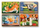 Pets - 4 x 12pc Wooden Jigsaw Puzzles in a Box By Melissa and Doug