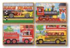 Vehicle - 4 x 12pc Puzzles in a Box By Melissa and Doug