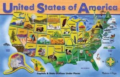 Educational Puzzles - USA Map