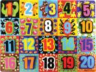 Jumbo Numbers - 20pc Wooden Children's Puzzle By Melissa & Doug