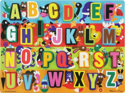 Jumbo ABC - 26pc Wooden Puzzle By Melissa & Doug