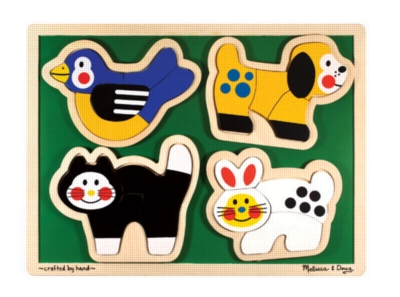 Pets - 16pc Wooden Tray Puzzle By Melissa & Doug
