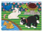 Pets - 5pc Touch and Feel Puzzle By Melissa & Doug