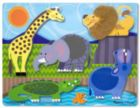 Zoo Animals - 5pc Touch and Feel Puzzle By Melissa & Doug