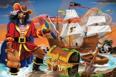 Melissa and Doug Floor Jigsaw Puzzles For Kids - Pirate's Bounty