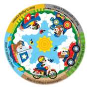 Vehicle Fun - 11pc Round Floor Puzzle By Melissa and Doug