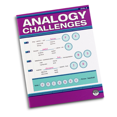 Analogy Challengers Level B - Puzzle Book By Mindware