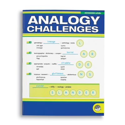 Analogy Challengers Advanced - Puzzle Book By Mindware