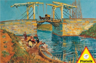 Van Gogh: Drawbridge - 1000pc Jigsaw Puzzle by Piatnik