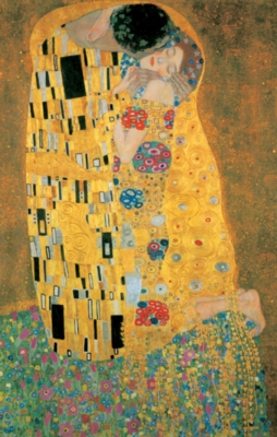 Klimt: The Kiss - 1000pc Metallic Jigsaw Puzzle by Piatnik