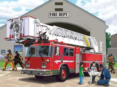 Floor Jigsaw Puzzles For Kids - Fire Engine