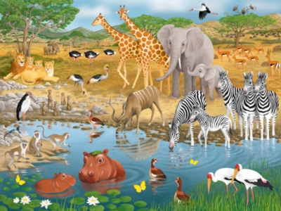 Floor Jigsaw Puzzles For Kids - African Animals