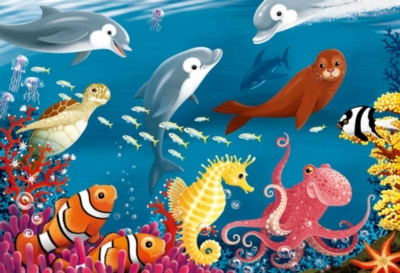 Floor Jigsaw Puzzles For Kids - Ocean Life