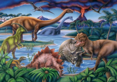 Dinosaur Playground - 35pc Jigsaw Puzzle by Ravensburger