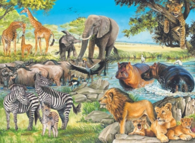 African Afternoon - 100pc Jigsaw Puzzle by Ravensburger