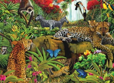 Wild Jungle - 100pc Jigsaw Puzzle by Ravensburger