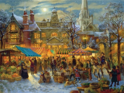 Winter Market - 500pc Large Format Jigsaw Puzzle by Ravensburger