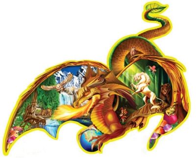 Earth Dragon - 1000pc Jigsaw Puzzle by FX Schmid