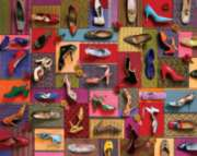 Hard Jigsaw Puzzles - Shoes! Shoes! Shoes!