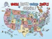 Uncle Sam's USA - 60pc Jigsaw Puzzle by Springbok