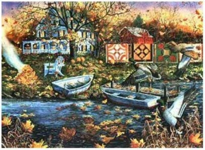Autumn Breeze - 150pc Jigsaw Puzzle by Serendipity