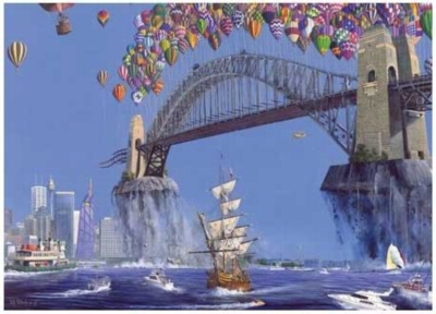 Sydney Harbor Lift-Off - 150pc Jigsaw Puzzle by Serendipity