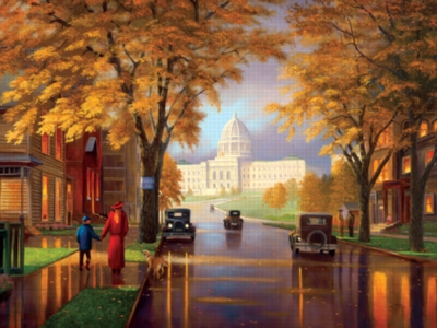 Autumn At The Capital - 550pc Jigsaw Puzzle by Serendipity