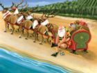 Santa's On Vacation - 550pc Jigsaw Puzzle by Serendipity