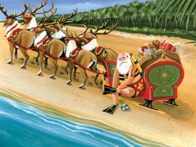 Serendipity Jigsaw Puzzles - Santa's On Vacation