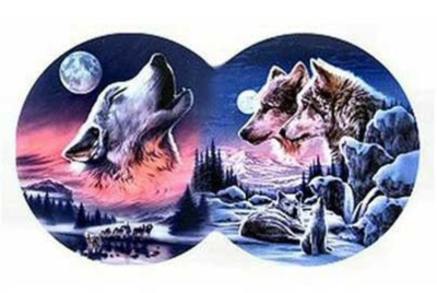 Moon Song - 800pc Double Round Jigsaw Puzzle by Serendipity