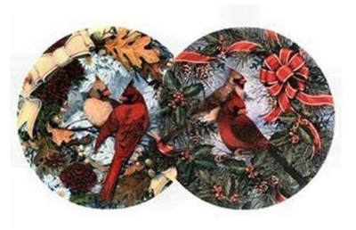 Visions Of Red - 800pc Double Round Jigsaw Puzzle by Serendipity