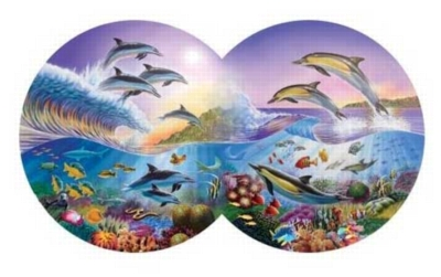 Catch The Wave - 800pc Double Round Jigsaw Puzzle by Serendipity