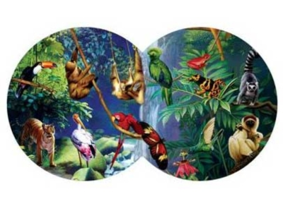 Rendevous In The Rainforest - 800pc Double Round Jigsaw Puzzle by Serendipity