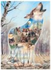 Wolf Song - 1000pc Shaped Jigsaw Puzzle by Serendipity