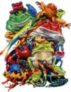 Frog Business - 1000pc Shaped Jigsaw Puzzle by Serendipity
