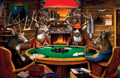 Deer Camp - 1000pc Jigsaw Puzzle by Serendipity
