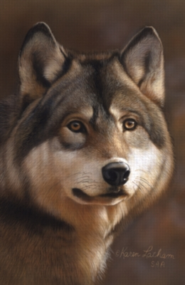 Timberwolf - 1000pc Jigsaw Puzzle by Serendipity