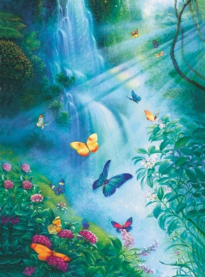 Jigsaw Puzzles - Butterflies In The Mist