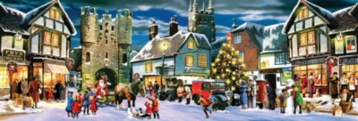 Christmas Panorama - 500pc Panoramic Jigsaw Puzzle By Sunsout