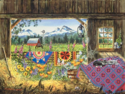 Hole In The Barn Door - 500pc Sunsout Jigsaw Puzzle