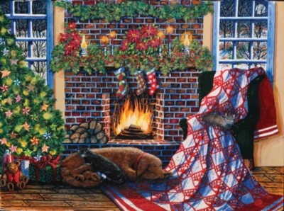 Not a Creature was Stirring - 500pc Jigsaw Puzzle by Sunsout