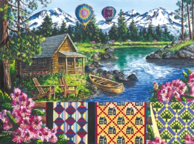 Jigsaw Puzzles - Floating Over Sisters