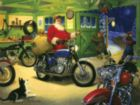 Motorcycle Santa - 500pc Jigsaw Puzzle by Sunsout