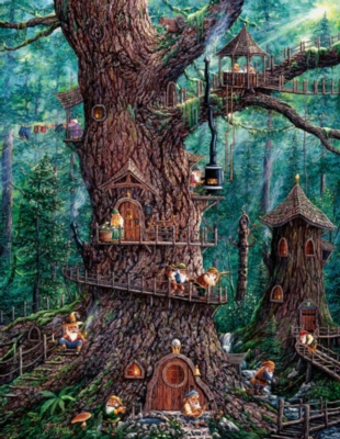 Forest Gnomes - 1000pc Large Format Jigsaw Puzzle by Sunsout