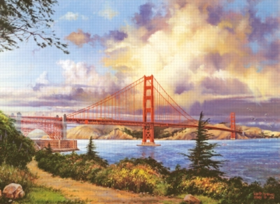 Golden Gate at Sunset - 500pc Jigsaw Puzzle by Sunsout
