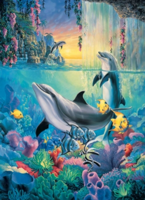 Dolphin Falls - 500pc Large Format Jigsaw Puzzle by Sunsout