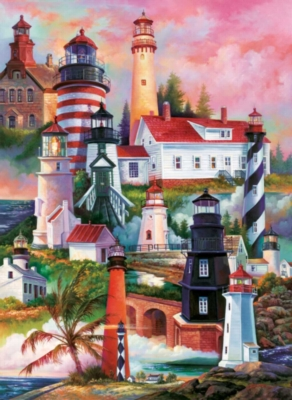 Lighthouses - 1500pc Jigsaw Puzzle by Sunsout