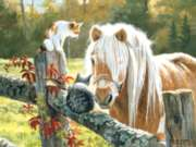 Just Visiting - 500pc Horse Jigsaw Puzzle by Sunsout