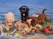 Three Little Fisherman - 500pc Jigsaw Puzzle by Sunsout