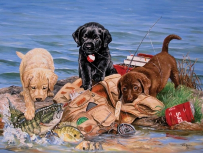 Jigsaw Puzzles - Three Little Fisherman